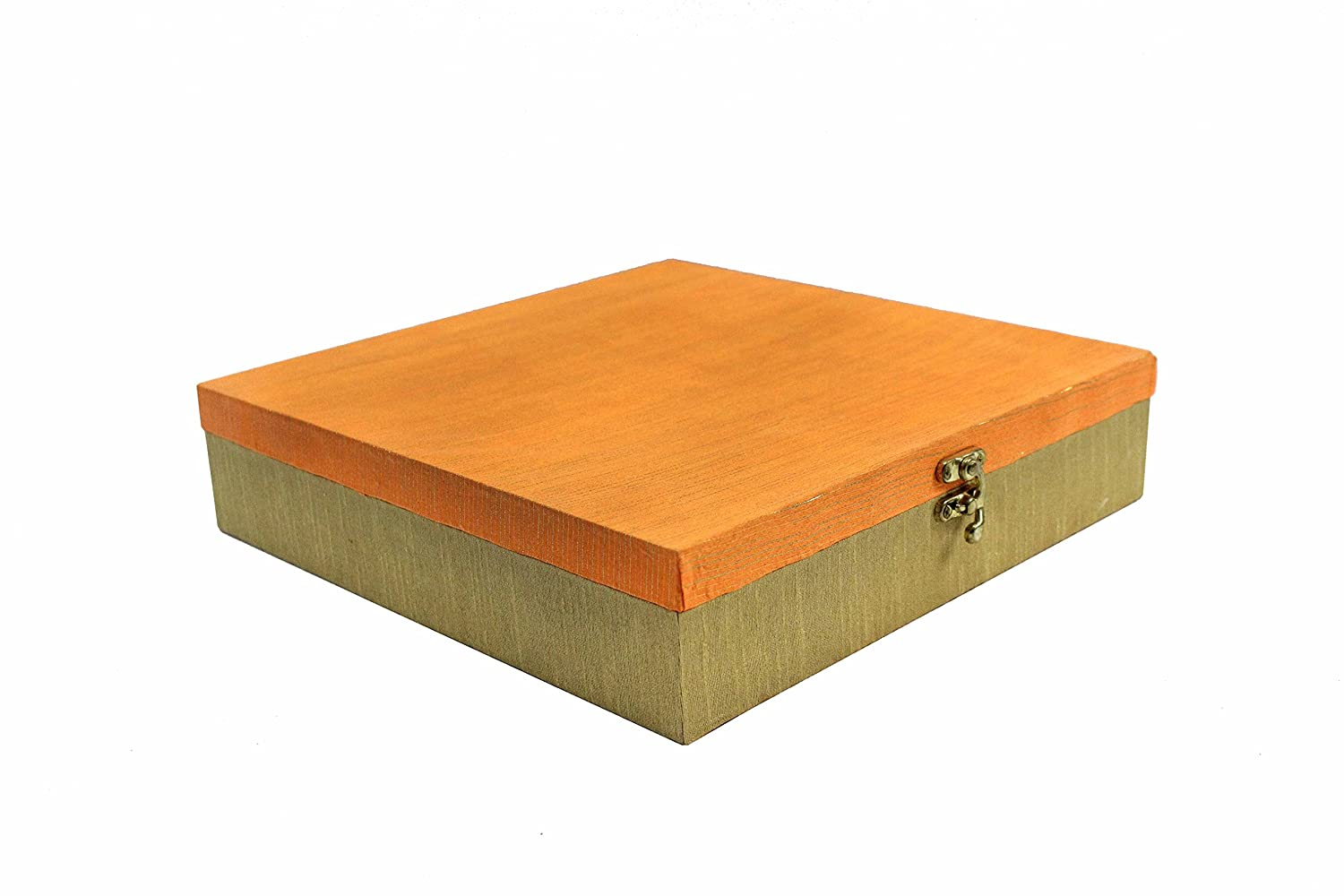 Buy Line N Curves Orange Empty Sweet Box In Velvet And Satin Fabric Empty Gift Box Decorative Platter Dry Fruit Box Wedding Gifting Pack Of 3 Boxes Online At Low Prices In