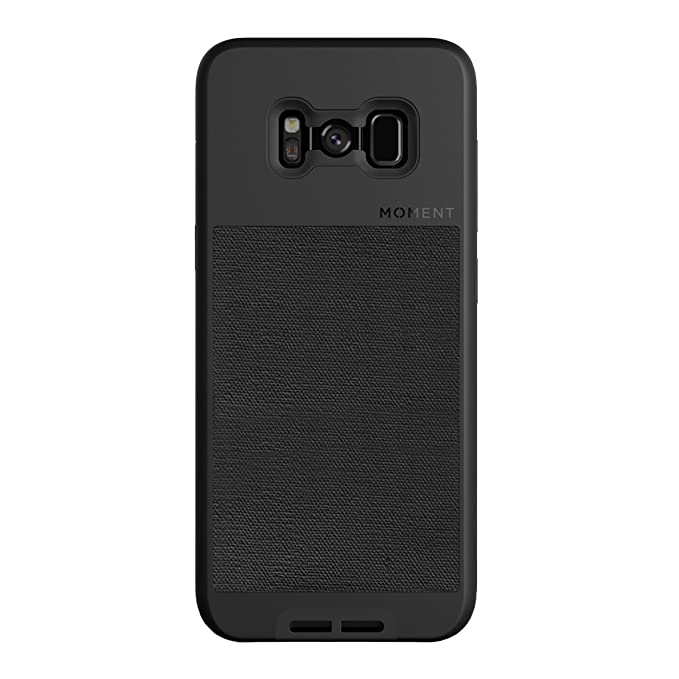 official photos f56a6 1dbbf Galaxy S8+ Case || Moment Photo Case in Black Canvas - Thin, Protective,  Wrist Strap Friendly case for Camera Lovers.