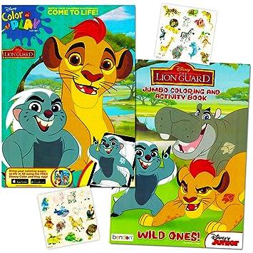 Amazon.com: Lion Guard Coloring Book Super Set -- 2 Lion Guard ...