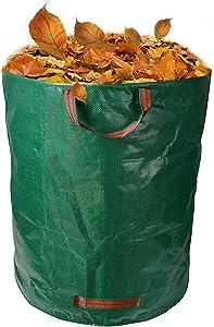 Hinnaswa Yard Waste Bag Reusable Heavy Duty Gardening Bag 72 Gallon Garden Waste Bag, Leaf Waste Bag, Trash Can with Handles