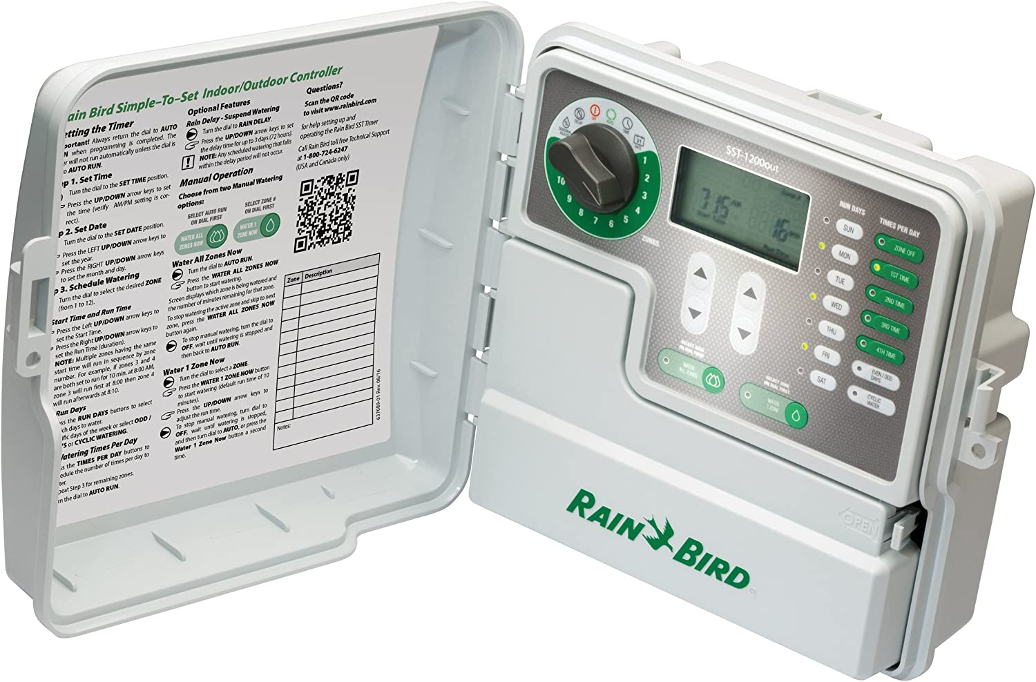 Rain Bird SST900IN Simple-to-Set Indoor Sprinkler//Irrigation System Timer//Controller - 1 This New//Improved Model Replaces SST900I 9-Zone//Station