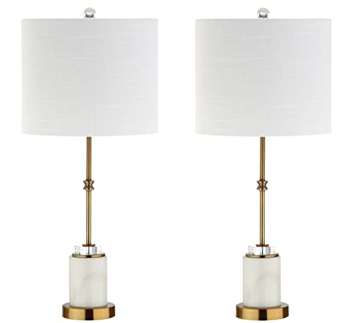 27 Marble Crystal LED Table Lamp, Brass Set of 2 , Modern, Bulbs Included