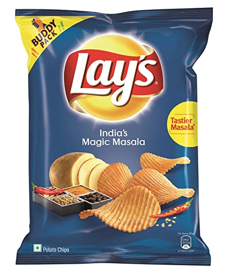 Lay's Potato Chips - India's Magic Masala - 52 gm Pack