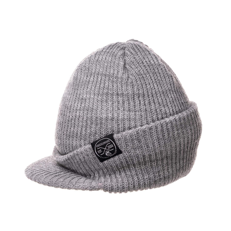 85040ac22b Born to Love Baby Boy's Black and Gray Checkered Visor Beanie Baby Hat
