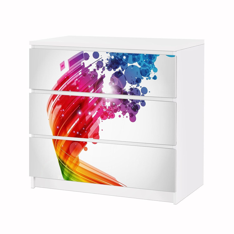 Apalis Vinilo Adhesivo para Muebles IKEA - Malm Dresser 3xDrawers ...