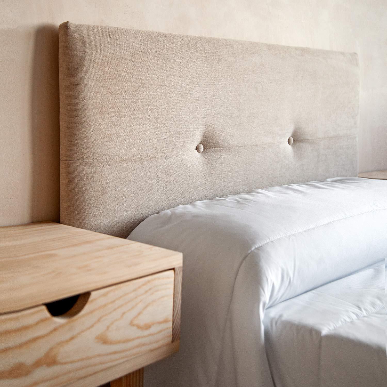 ... en Tela Rio15 Color Azul Cabeceros Madera para Dormitorio | Cama Matrimonio | Cama Juvenil | Camas de 140 cm, 135 cm, 120 cm: Amazon.es: Hogar