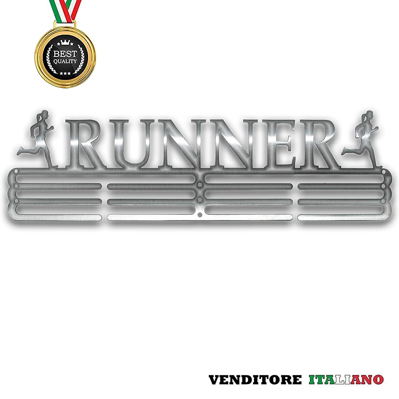 NITTEB Porta Medaglie Running Runner Parete da Muro Marathon Medal Display And Holder Medagliere Medal Hanger Uomo