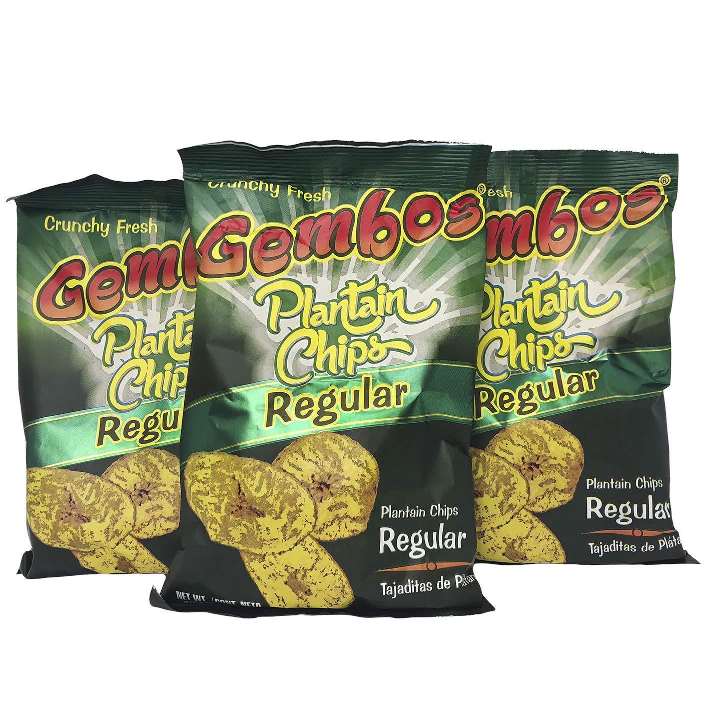 GEMBOS Plantain Chips Regular/Sal 24-PACK