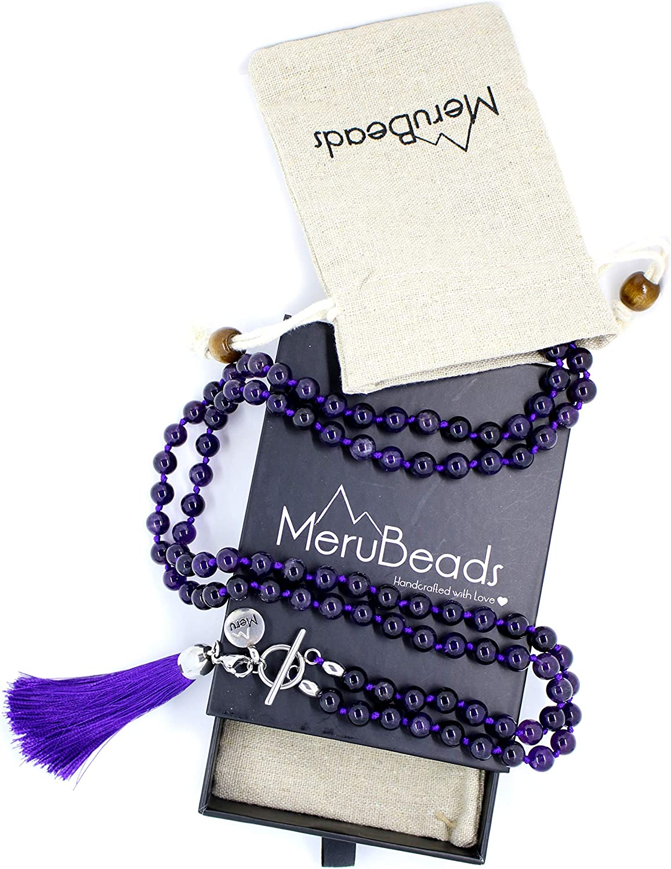 summer tassel necklace ethnic bohemian pearl necklace mala necklace malastyle gift charm necklace yoga Mala gypsy necklace yoga jewelry