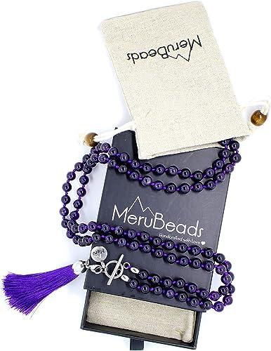 Yoga Mala Beads Long Tassel Necklace Lavender Jade Mala Beads 108 Bead Gemstone Mala Knotted Mala Beads Calming Mala Necklace
