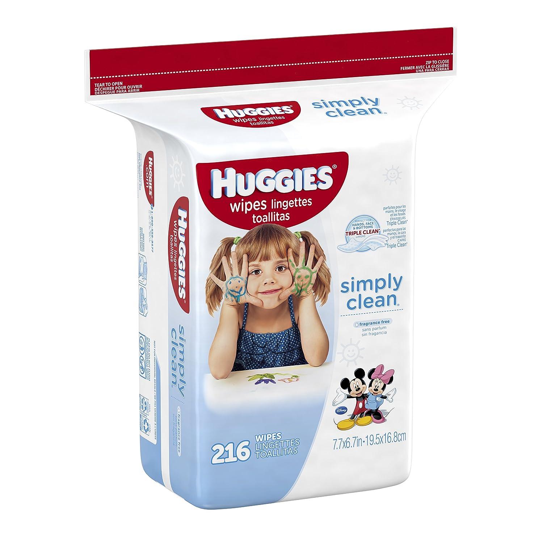 Huggies Simply Clean Baby Wipes, Refill, 648 Count(Packaging May Vary) by Huggies: Amazon.es: Salud y cuidado personal