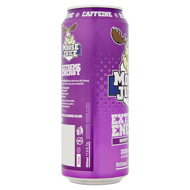 dd26727e016b9 Moose Juice Extreme Energy - Berry (12 x 500ml)  Amazon.co.uk  Health    Personal Care
