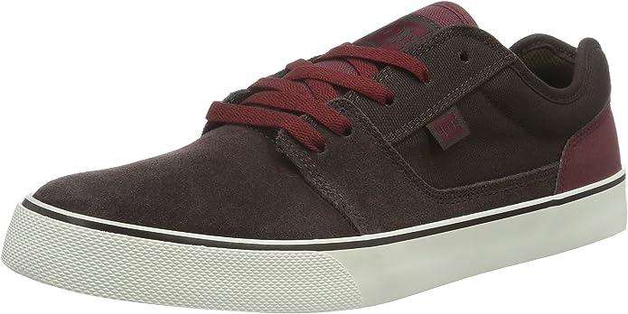 DC Shoes Tonik Sneakers Skateboardschuhe Herren Damen Unisex Erwachsene Braun/Rot