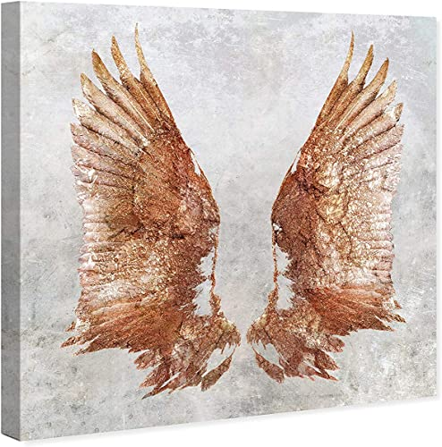 Oliver Gal 'Rose Gold Wings' The Fashion Wall Art Decor Collection Modern Premium Canvas Art Print