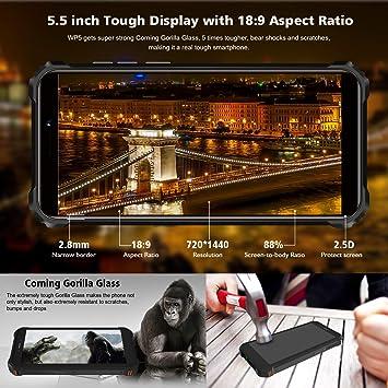 OUKITEL WP5-4G IP68 teléfono Rugged Móvil, Telefonos Robusto ...