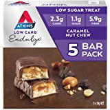 Atkins Endulge Caramel Nut Chew Bars | Keto Friendly Bars | 5 x 34g Low Carb Caramel Chocolate Bars | Low Carb, Low…