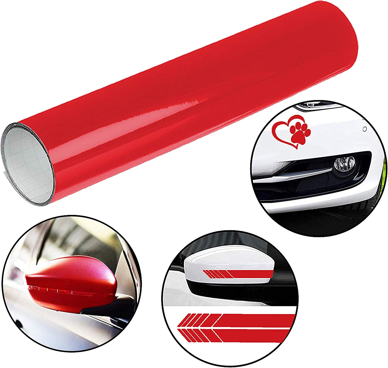 Craft Projects Glossy Sticky Back Vinyl Roll Stickers /& Decals Home Decor Hobbies Red Vinyl Roll 30cm x 3m Roll of Self-Adhesive Vinyl Roll for Cutting Plotters Scrapbook