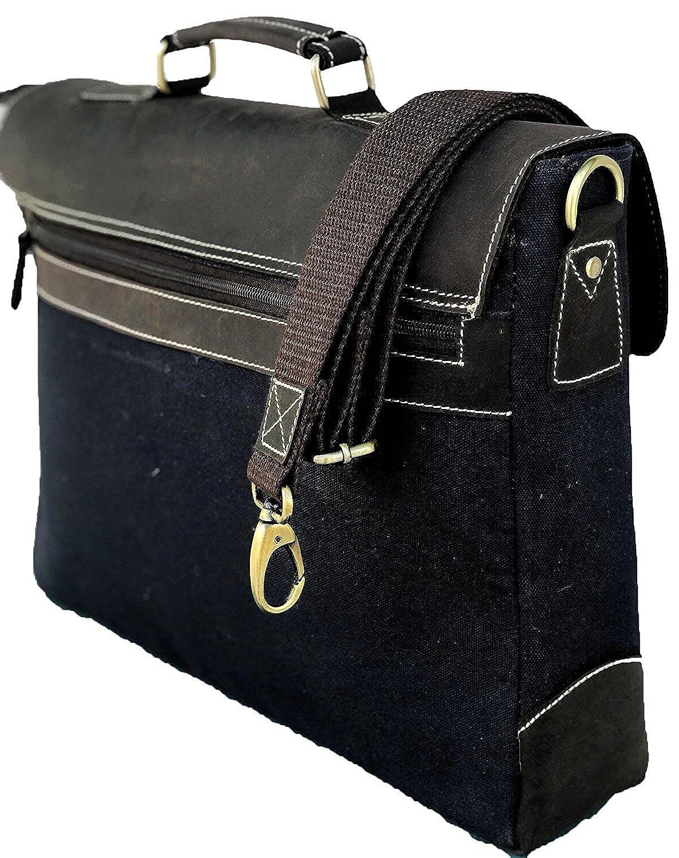 Leather Saddler Mens Vintage Leather Messenger Soft Leather Briefcase Bag 13 Inch Brown