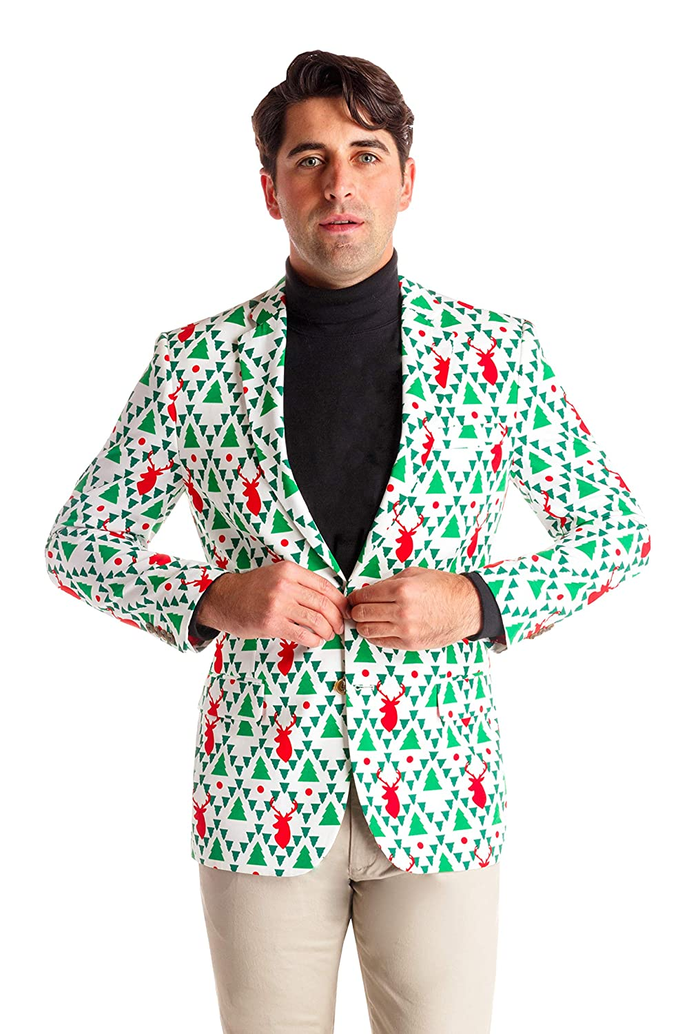 Shinesty Christmas Suits.Shinesty Men S Ugly Christmas Suit Jacket The Top Ugly