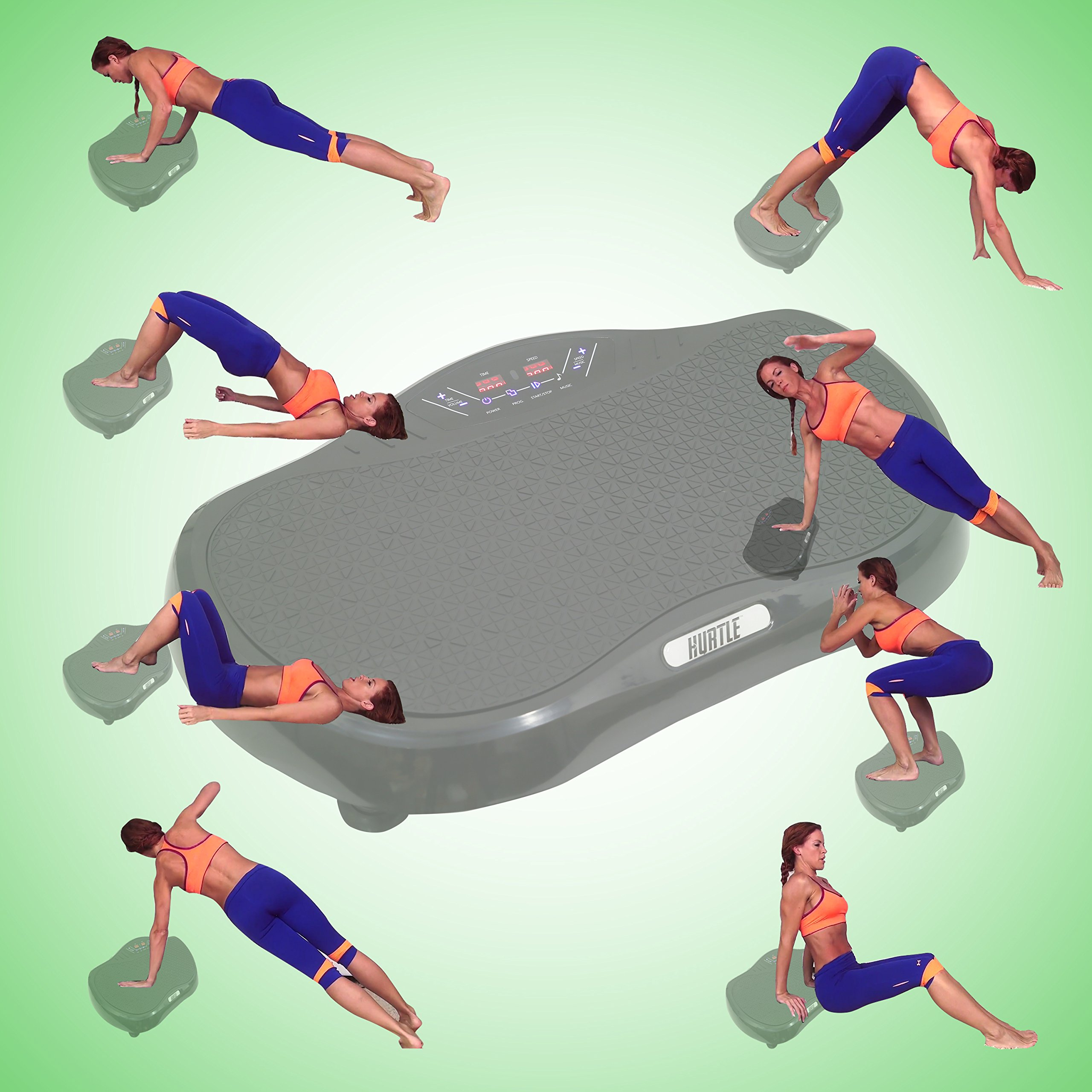 Hurtle Crazy Fit Vibration Fitness Machine - Anti-Slip Vibrating Platform Exercise & Workout Trainer, with Built-in Bluetooth Speakers, Ideal for All Body Types & Age Groups. (HURVBTR35BT) by Hurtle (Image #7)