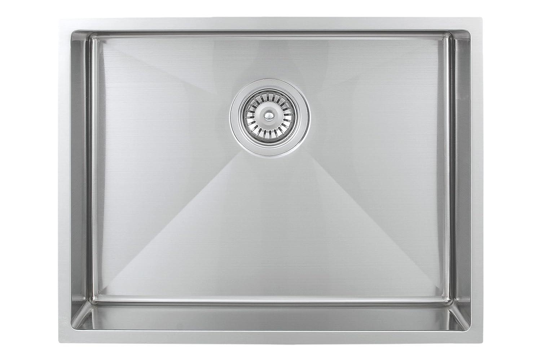 Wells Sinkware SSU2318-45 18-Gauge ADA Handcrafted Undermount Single Bowl  Kitchen Sink, Stainless Steel