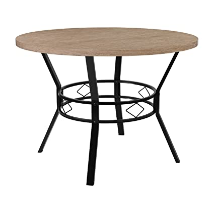 Amazoncom Flash Furniture Tremont Round Dining Table In - Bleached wood dining table