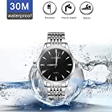 Flash Sale,Mens Watches Sale Clearance,LONGBO Mens Full Stainless Steel Waterproof Analog Quartz Watch,Men's Elegant Silver Wrist Watches Simple Business Classic