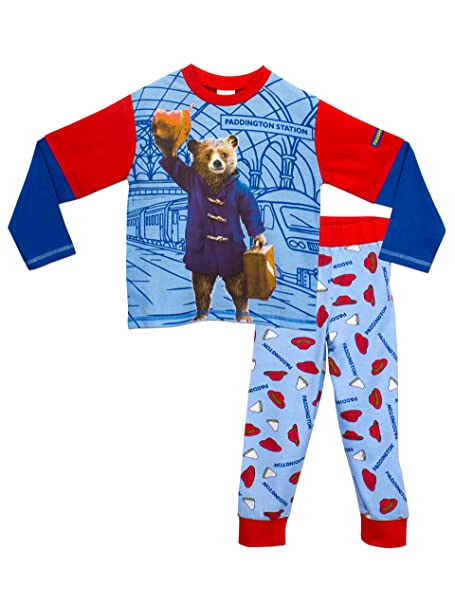 Paddington Bear - Pijama dos piezas - Manga Larga - para niño Multicolor azul