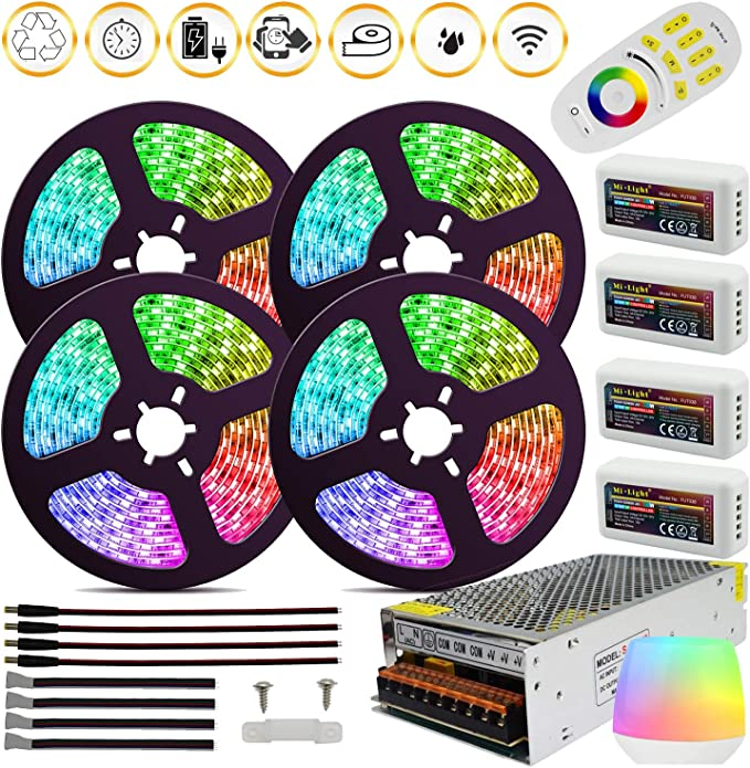 Amazon.com: 6 unidades DC12 V Mini RGB LED Amplificador ...