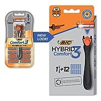 BIC Comfort 3 Hybrid Mens Disposable Razor w/12 Cartridges Deals