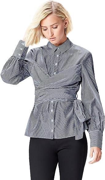 TALLA 36. Marca Amazon - find. Vestido Camisero con Cuerpo Anudado para Mujer