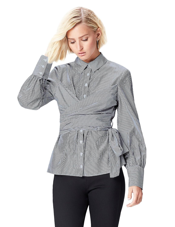 TALLA 48 (Talla del fabricante: XXX-Large). FIND Vestido Camisero con Cuerpo Anudado para Mujer