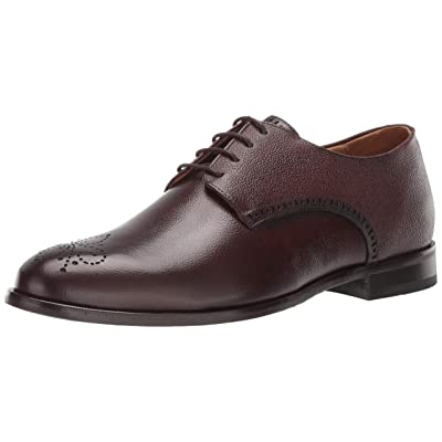MARC JOSEPH NEW YORK Men's Leather Lace-Up Wingtip Dress Shoe Oxford, Whiskey Brushed Nappa, 11 M US | Oxfords