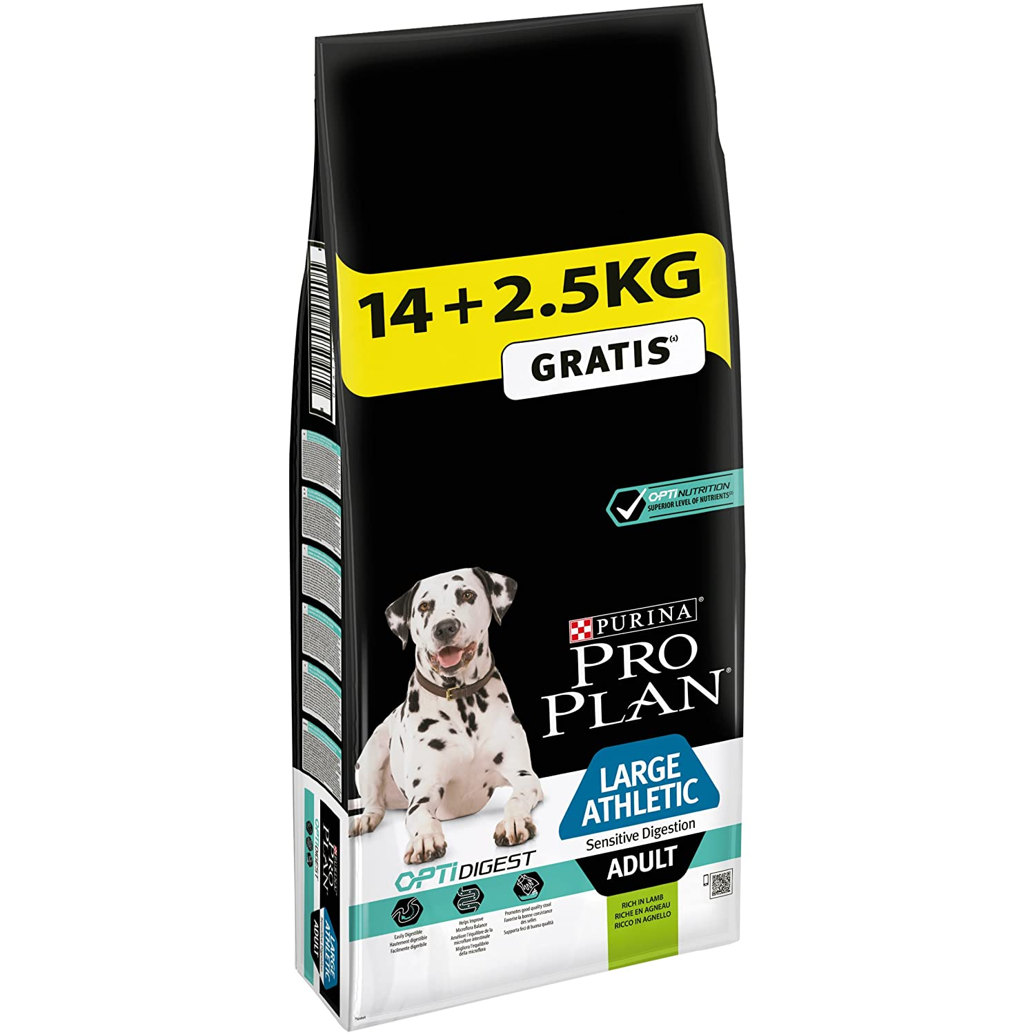 Pro Plan Dog Large Athletic Adult, Sensitive Digestion, Riche en Agneau, croquettes Sacs 12294622