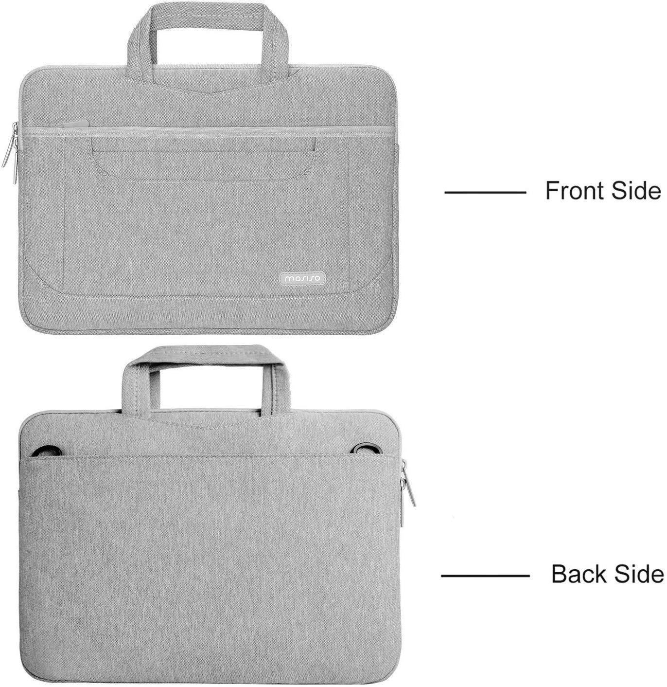 MOSISO Laptop Shoulder Bag Compatible with 13-13.3 Inch MacBook Pro//MacBook Air//Notebook with Organizer Pockets Multiuse Travel Work Business Messenger Briefcase Case Sleeve for Men /& Women Gray