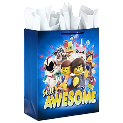 ce72d7d90f6b Hallmark Extra Large Gift Bag with Tissue Paper for Birthdays, Kids Parties  or Any Occasion (LEGO Movie 2)