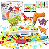 WISESTAR 303PCS Electric Drills Toy Set for Kids, 3D Design STEM Toy Drilling Set with Board, Screw Driver, Trendy Bits…