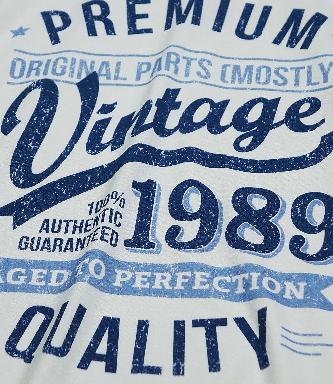 My Generation Gifts 1989 Vintage Year - Aged to Perfection - 30 Cumpleaños Años - Regalo de Cumpleaños Camiseta para Hombre