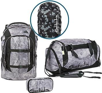 d89b6e9046244 Satch Ergobag School Backpack Set 4Â Pieces Pack Le Rock Block 9 F9Â Rock   Amazon.in  Bags