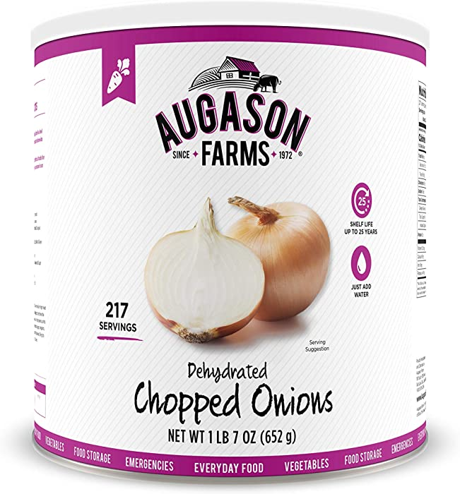 Augason Farms Dehydrated Chopped Onions 1 lb 7 oz No. 10 Can