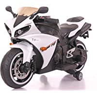 Toy House Yamaha R1 Bike with Rechargeable Battery Operated Ride-on for Kids (White , 2-6 Years)
