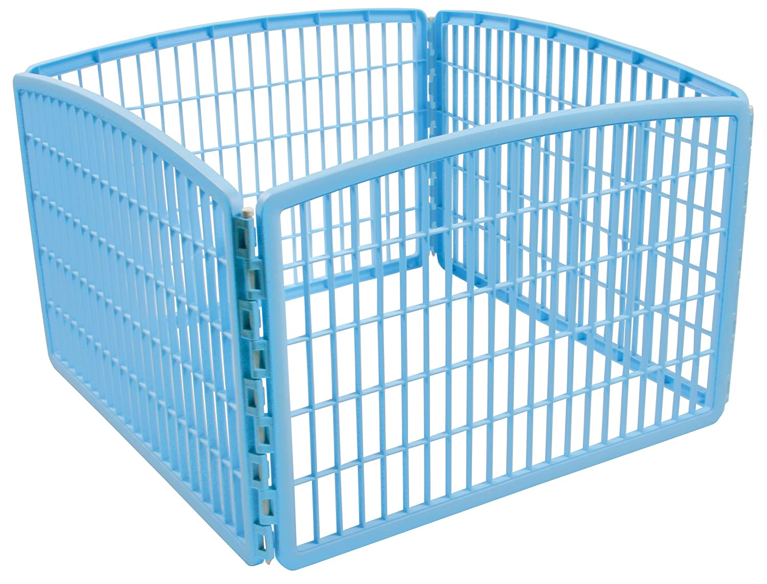 IRIS 24'' Exercise 4-Panel Pet Playpen Without Door, bluee