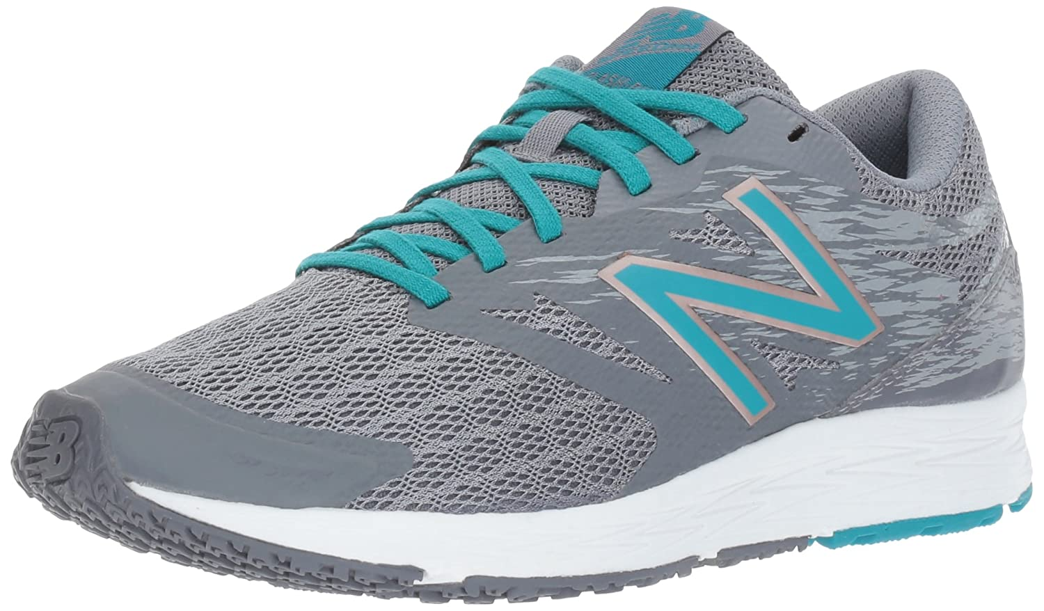 New Balance Women's Flash V1 Running Shoe B01MQLRX13 5.5 B(M) US|Gunmetal/Pisces