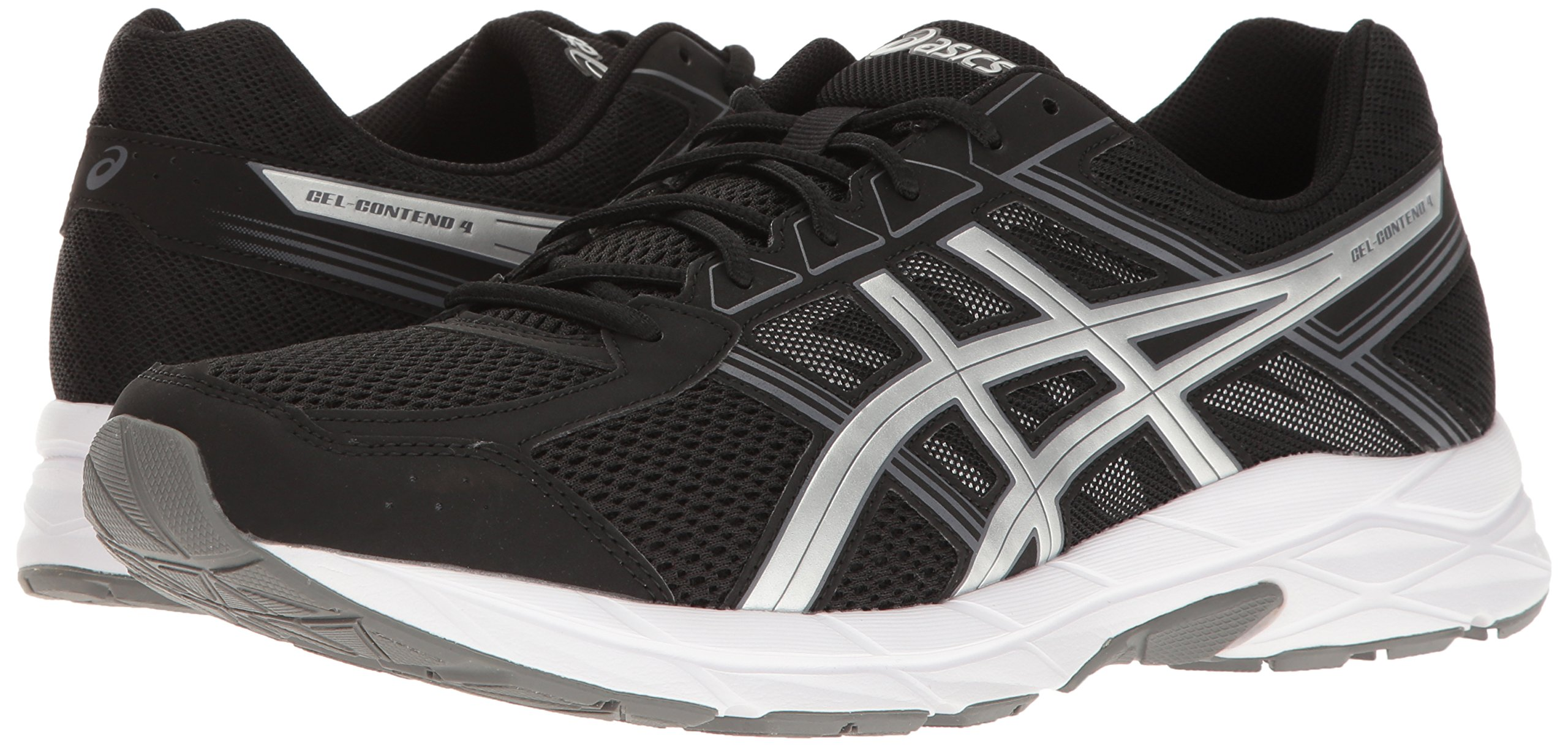 ASICS Men's Gel-Contend 4 Running Shoe, Black/Silver/Carbon, 7.5 M US by ASICS (Image #6)