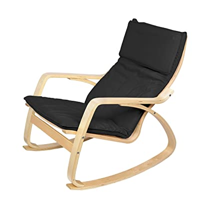 Phenomenal Harima Reine Birch Black Rocking Chair Relaxing Short Links Chair Design For Home Short Linksinfo