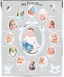 Amazon.com: Fashioncraft My First Year Baby Collage Frame In ...