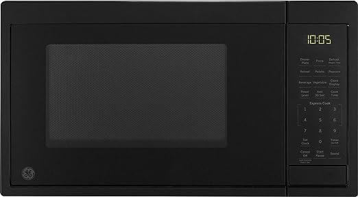 Amazon Com Ge Appliances Jes1095dmbb Ge 0 9 Cu Ft Capacity Countertop Microwave Oven Black Appliances