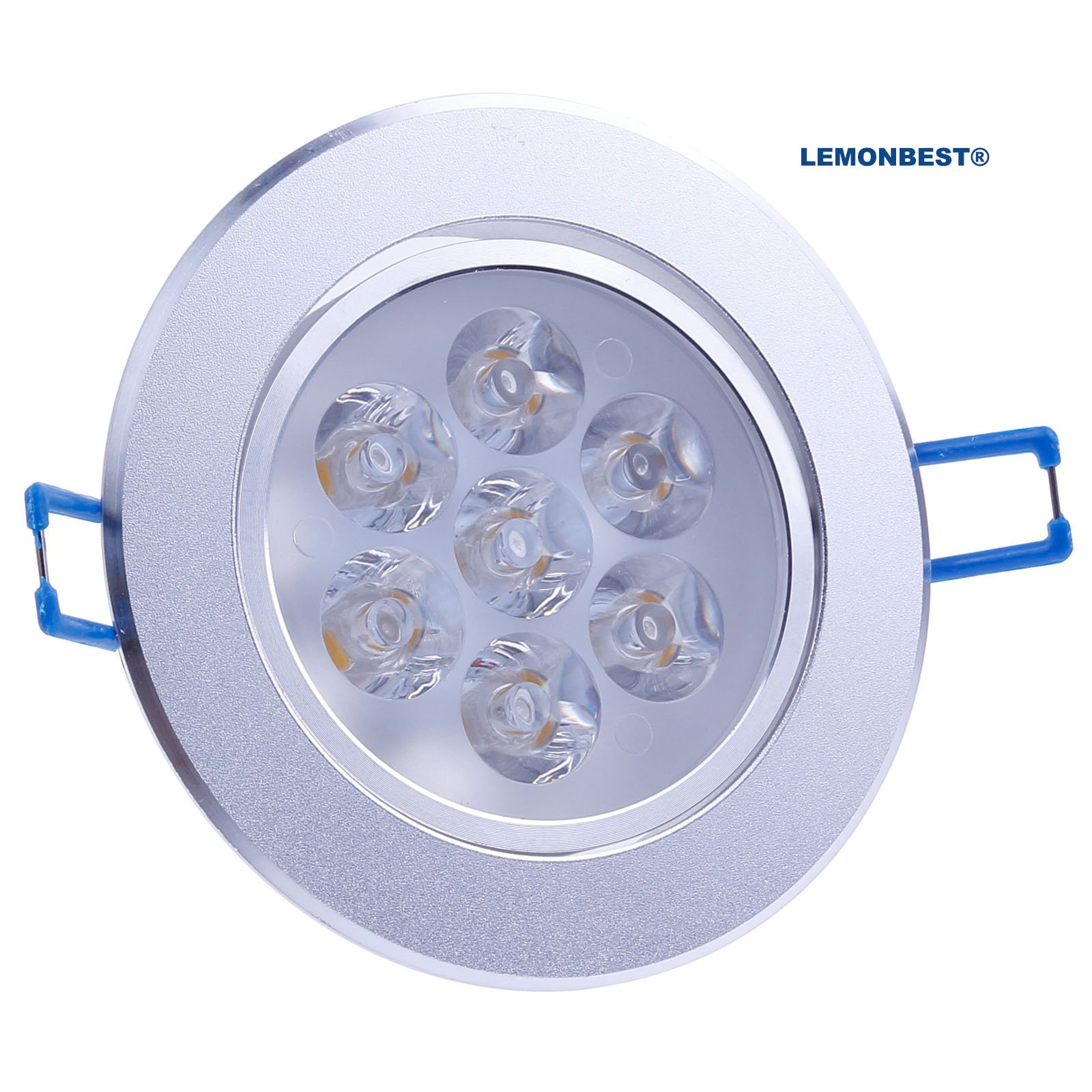 LemonBest Brand New 110V Dimmable 7W LED Ceiling Light Downlight Recessed Lighting, Superbright Cool White by LemonBest (Image #1)