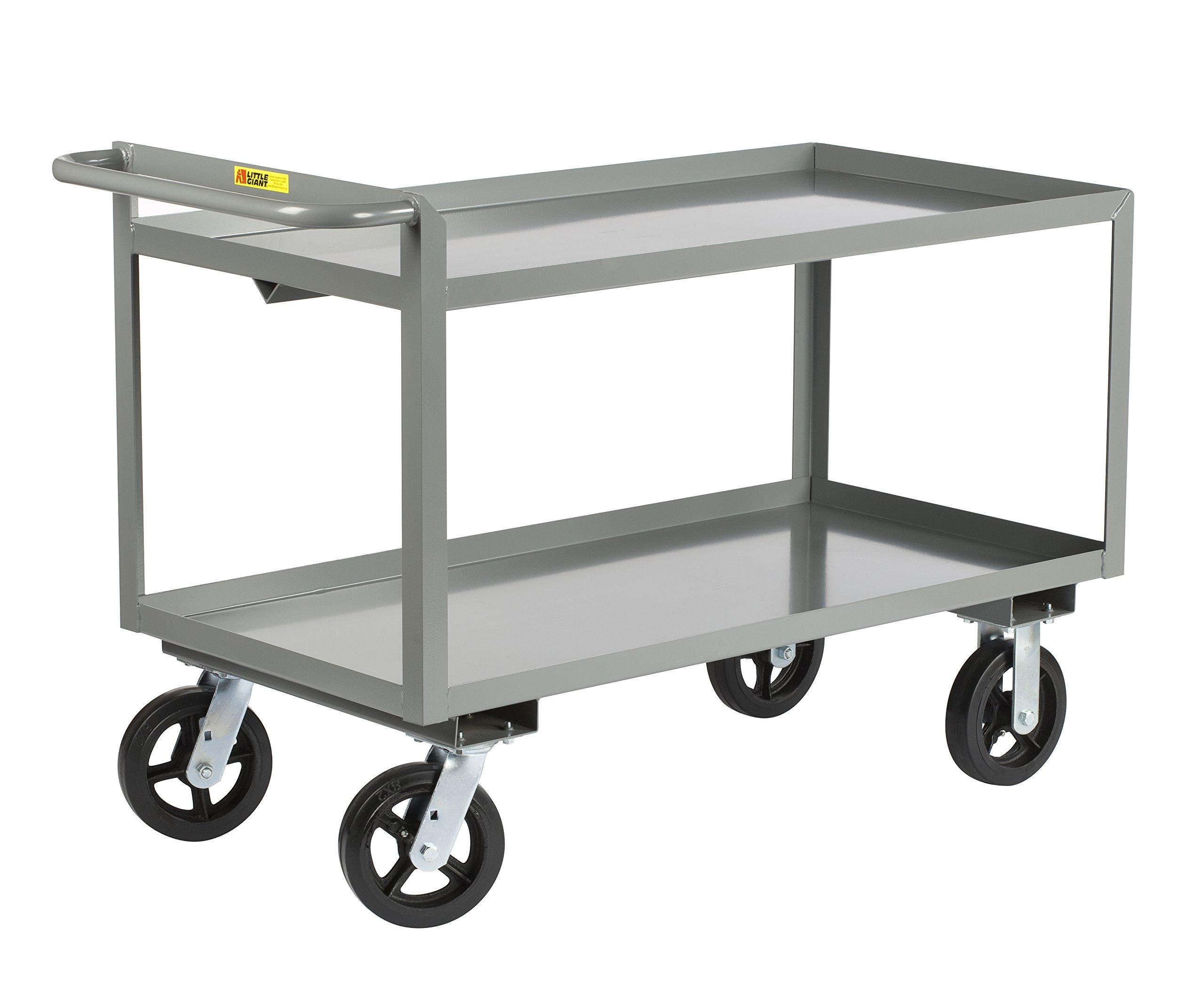 Little Giant GL-3048-8MR Merchandise Collector Cart, 30'' x 48'', Gray