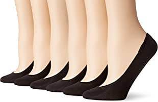 PEDS Women's Microfiber Ultra Low-Cut Sock Liners, Pack of Six